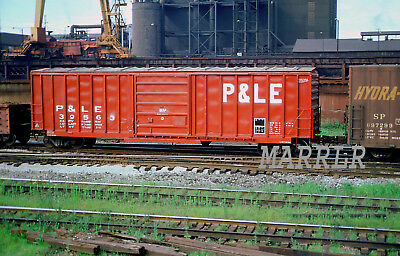 RR Print-Pittsburgh & Lake Erie P&LE 39563 at Youngstown Oh 7/6/1981