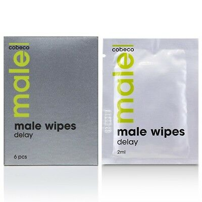 MALE COBECO WIPES DELAY (6x2,5ml) Lotion Spanish Fly Cream Super Strong For Men