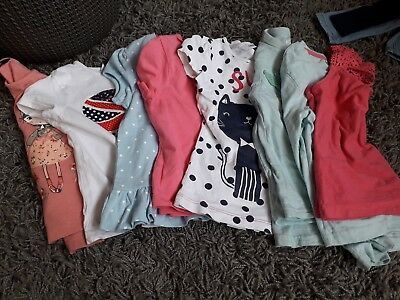 Girls Mixed Size T Shirt Bundle 2-3 3-4 4-5 great for playwear