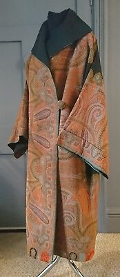 Pristine 1920s Cocoon Coat Made From Antique 19th Century Paisley Shawl