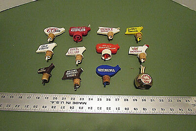 Vintage Lot Of 12 Bottle Stopper Pourer Spout Liquor Barware