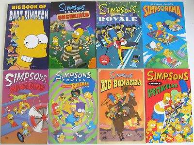 The Simpsons Comics Graphic Novel Bundle Joblot x 8