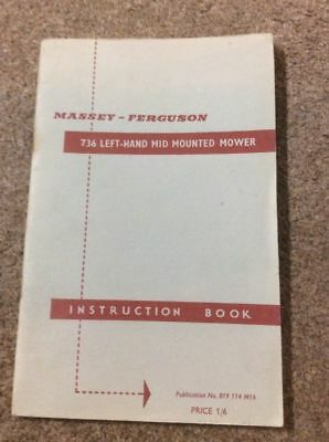 Ferguson Left-Hand Mid-Mounted Mower Instruction Book  ......... Original Manual