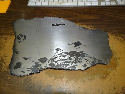 Huge 12.5 In. 1750 Gm Campo Del Cielo  Polished Meteorite Slab, 3.9 Pounds