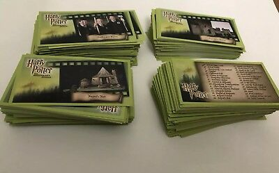 Large Lot Of Harry Potter and The Sorcerers Stone Movie Trading Cards