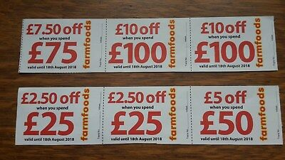 Farmfoods Coupons Vouchers worth £37.50. Valid Until 18th August 2018