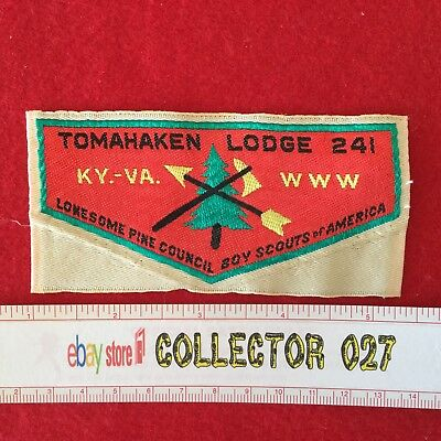 Boy Scout Tomahaken Lodge 241 W1 Order Of The Arrow Woven Patch