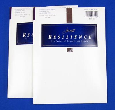 Hanes Resilience Control Top Pantyhose~2 Packages~Pecan~Size CD