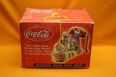 Coca Cola Animated Polar Bear Phone Telephone (Polyconcept USA, 2000)