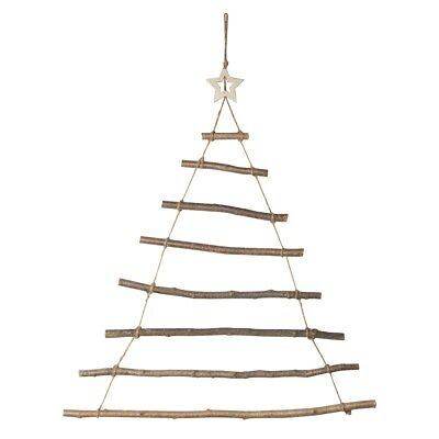 Christmas Tree Wall Ladder Small - Decoration, Wood, Star, Hanger, Sass n Belle