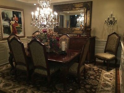 henredon dining room set With 10 Chairs