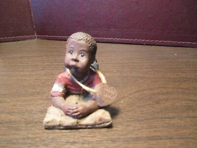 Sarah's Attic Figurine - WILLIE - Laying on His Belly