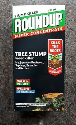 1 x 250ml  BOTTLE ROUNDUP TREESTUMP AND ROOT KILLER LIQUID SUPER CONCENTRATE