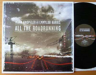 "DLP MARK KNOPFLER & EMMYLOU HARRIS "" All The Roadrunning "" Dire Straits MINT OIS"