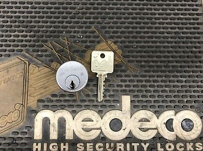 Medeco Original High Security Mortise cylinder, with 1 key Free Shipping