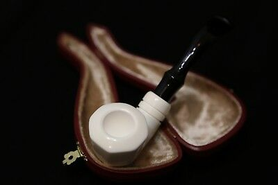 Meerschaum Pipe - Gentleman - Quarter Bent - Hand Carved in a Fitted Case