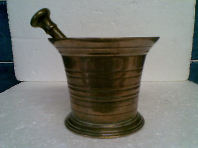Antique Mortar and associated Pestle very good quality and pleasing to the eye