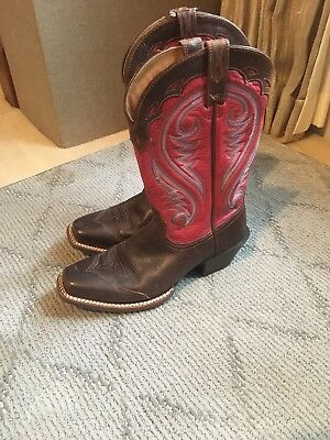 9f25286c09b Ariat Women s Circuit Shiloh Brown Red Cowgirl Boot - Square Toe - 10001066