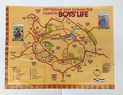 1997 National Scout Jamboree Map Boy's Life