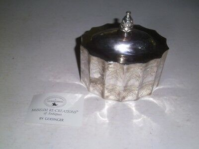 Godinger Silver Plated Paul Revere Tea Caddy  Museum Re-creations 1991 with card