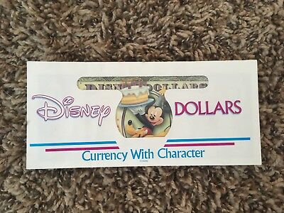 WDW 2009 $1 D Series MINT UNC Disney World Dollars Mickey & Pluto