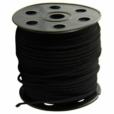 2.7 mm Suede beaded jewelery thread(The total length of about 9100cm) black D9M7