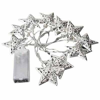 3X(Battery Operated 10 LED Christmas Fairy String Light Star Decor Light Co D8Y8