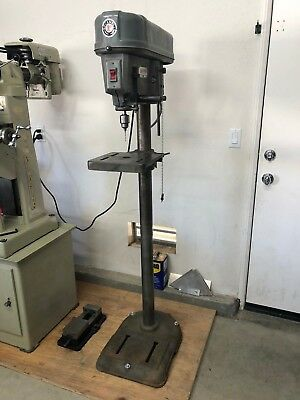 ROCKWELL / DELTA 15-017 DRILL PRESS - 110/220v - ORIGINAL GE MOTOR 1/2 HP