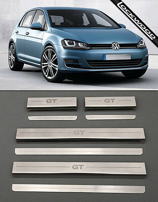 VW Golf Mk7 GT (Released 2013) 4 Door Stainless Sill Protectors / Kick Plates