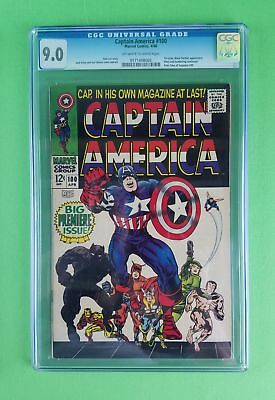 1968 Captain America #100 (1St Issue 1St Sa Cap In Own Book) Cgc Graded 9.0! Wow