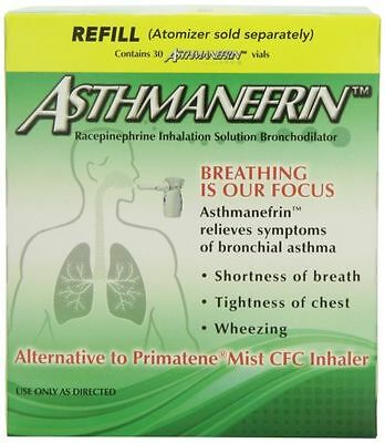 NEW 1 Box of Asthmanefrin Asthma Medication Refill, 30 Count, May 2020