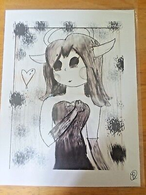 Bendy and the Ink Machine~ Alice Angel Traditional Art As Seen at MegaCon 2018