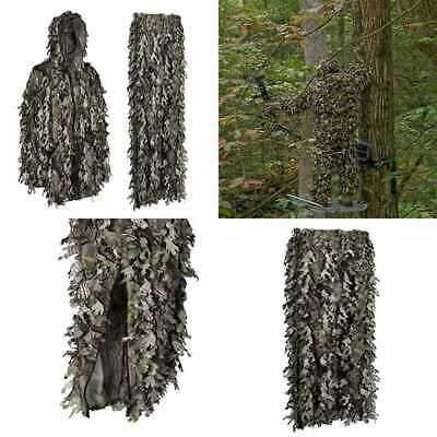 Youth Teens Kids 3D Leafy Ghillie Boys Camouflage Hunting Suit Woodland GREEN Ca