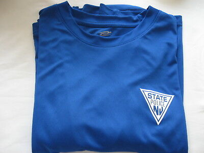 New Jersey State Police - Moisture Wicking Shirt - Royal Blue -  Size -  Large