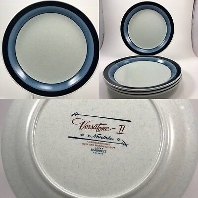 Noritake Versatone II Seabreeze Dinner Plates Set of four 10 1/2 inch plate