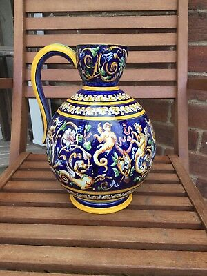 Gien Faiance Pitcher Jug French