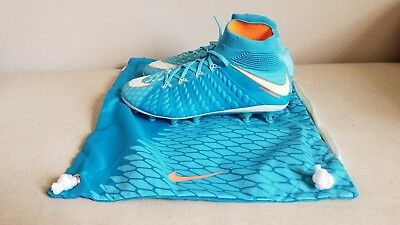 New Nike Women Hypervenom Phantom 3 DF AG-Pro Soccer Cleats Polarized Blue US 8