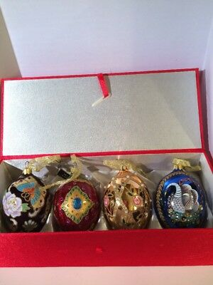 Joan Rivers Faberge Inspired Classics Collection Egg Ornaments