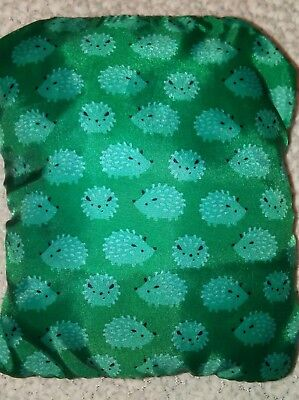 Infantino baby shopping cart cover teal hedgehogs NWOT