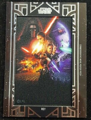 Topps Star Wars 2018 Galactic Files Movie Poster Patch REY The Force Awakens