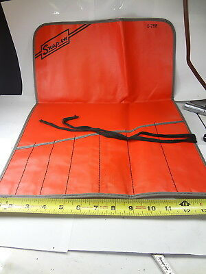 Large Snap On 7pc Roll-Up Wrench Holder Pouch/Bag C-75B MINT