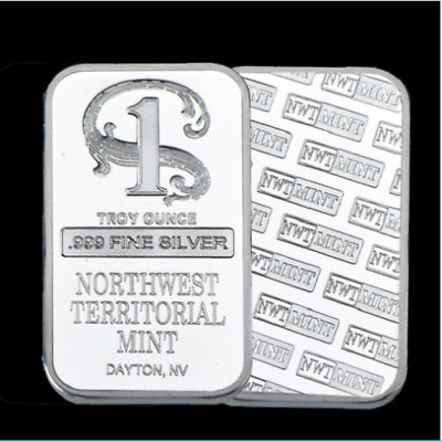 1 Oz Northwest Territorial Mint Silver Bar coin collection-999 Fine