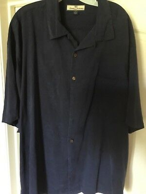 TOMMY BAHAMA - RELAX- Pre-Owned  -Short  Sleeve Button Down Shirt - XXL -Blue