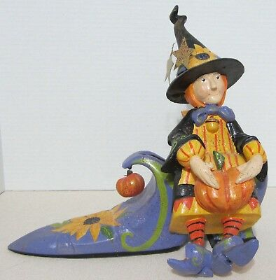 2003 House Of Hatten - Witch On Shoe - Denise Calla Halloween Figurine