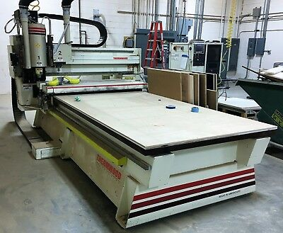 Thermwood Model C-53 Fixed Table 3 Axis Cnc Router With Roller Hold Down Q Core