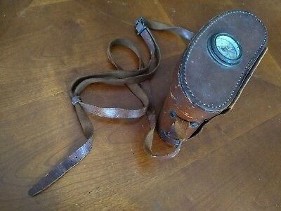 WWI US ARMY SIGNAL CORPS BAUSCH & LOMB OPTICAL BINOCULARS w/Compass Case
