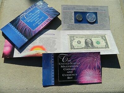 The Us Mint Millennium Coinage And Currency Set