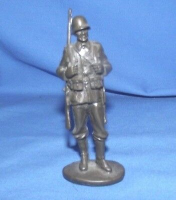 WWII German Metal Soldier Infantry 1940's ? 4 inches tall