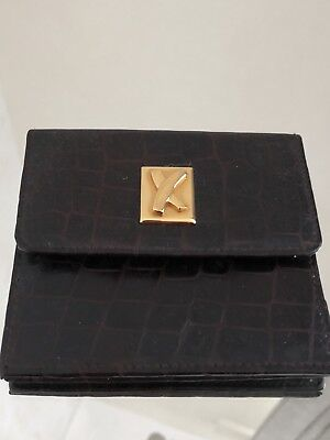 Vintage Paloma Picasso Genuine Embossed  Leather  Purse Made in Italy