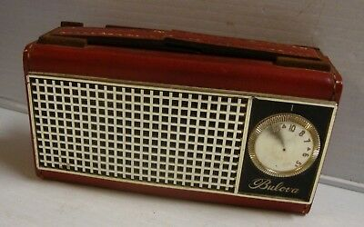 Vintage Bulova Battery Operated Pocket Size All Transistor Radio 290L Series
